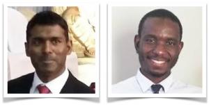 Dr Kenneth Moodley and Mwendabai Kalaluka